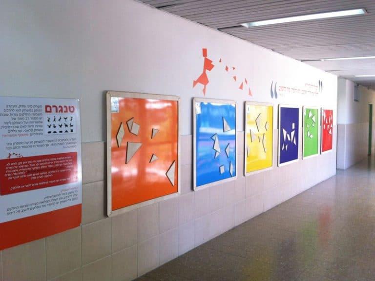 עיצוב מרחבי למידה עם לוחות טנגרם מגנטים