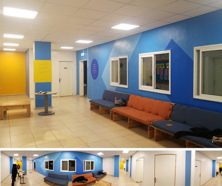 עיצוב מרחב כיתות - מבט פנורמי