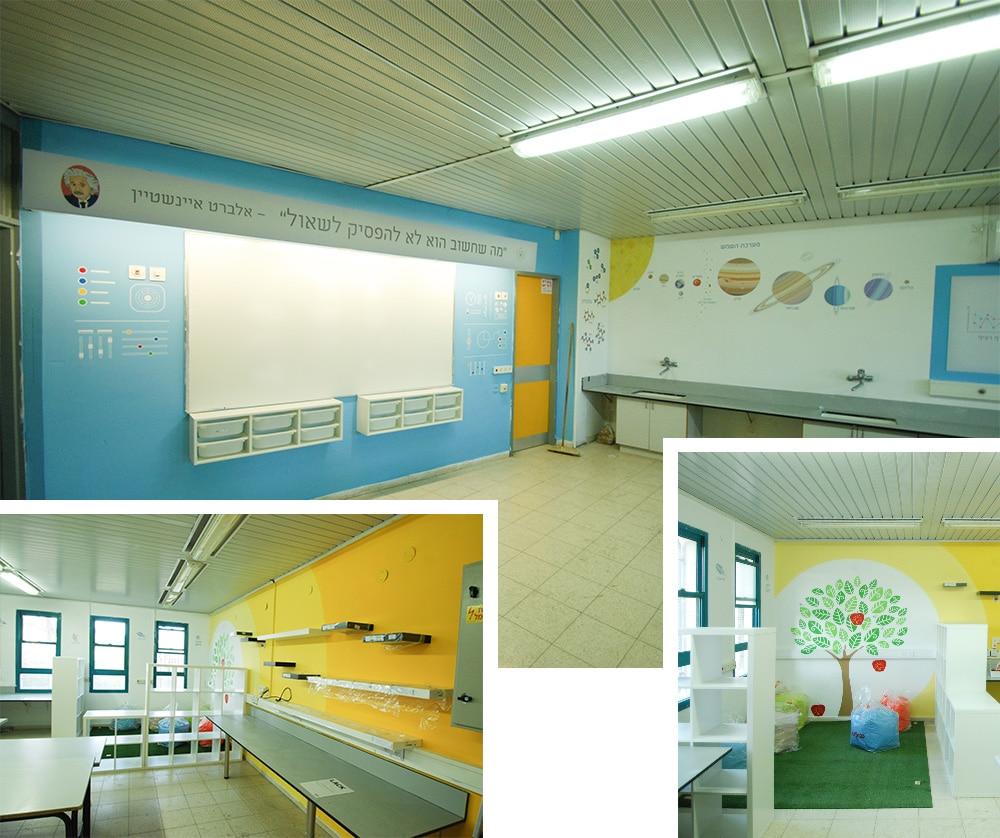 עיצוב חדר מדעים ברמת אלון