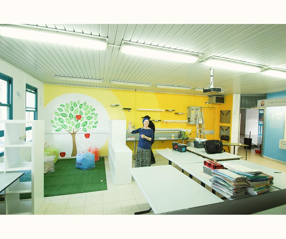 עיצוב חדר מדעים בבית הספר רמות אלון