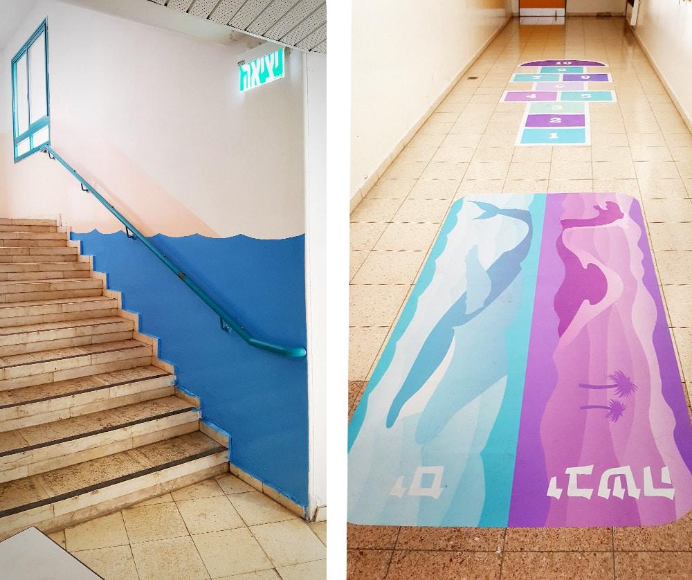 עיצוב משחקי רצפה וגרם מדרגות