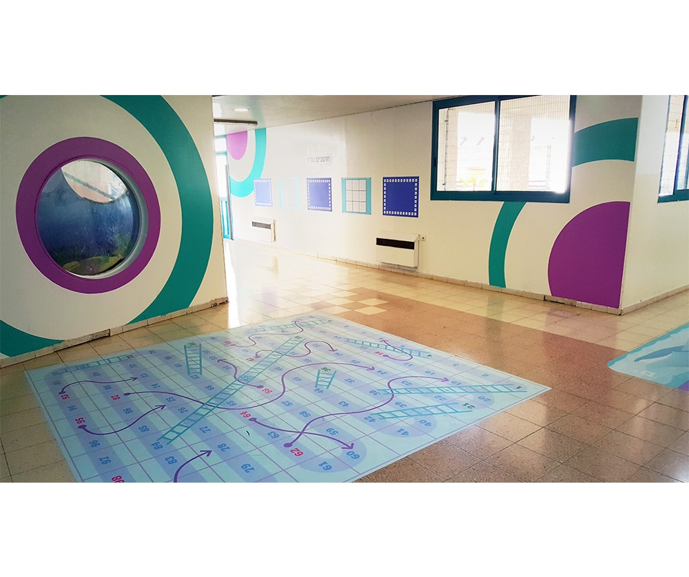 עיצוב מרחב למידה - משחקי רצפה