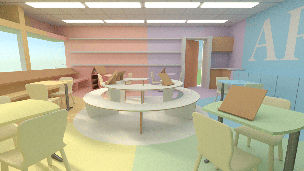 עיצוב חדר אומנות בבית הספר ניצן