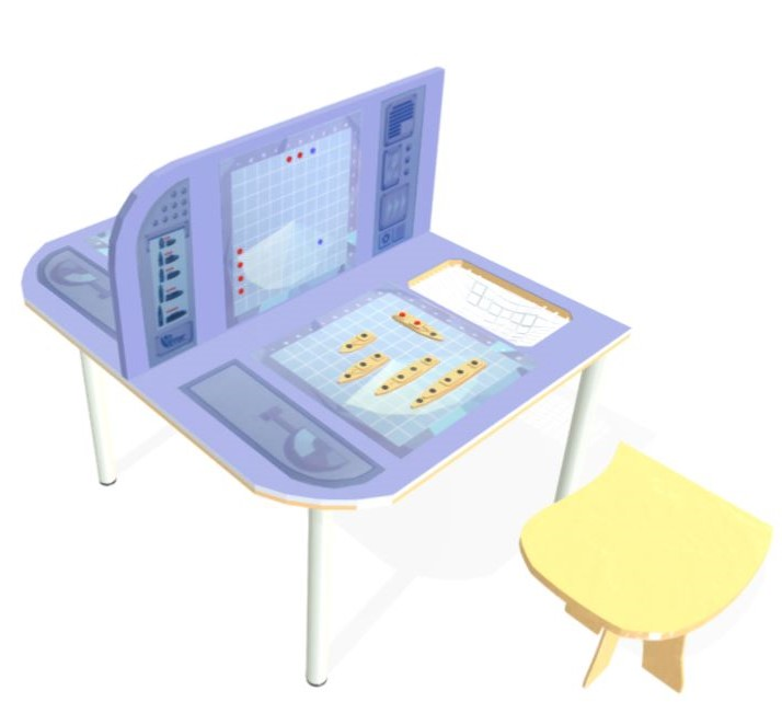 הדמיה של שולחן משחק הצוללות