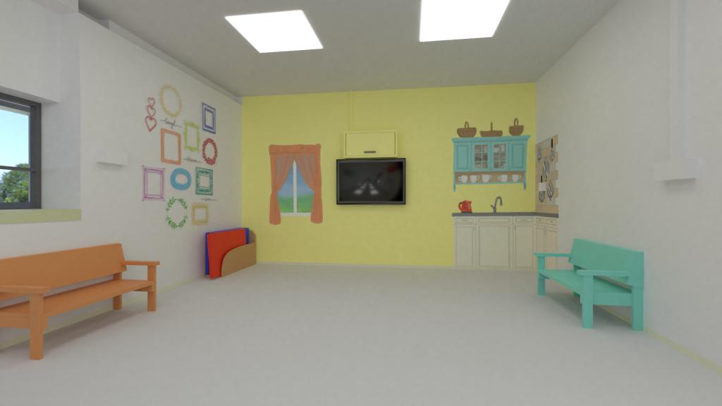 הדמיה של חדר הפעילות במתחם