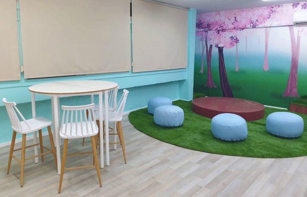 עיצוב מרחב למידה כיתות יא פינת ישיבה במה