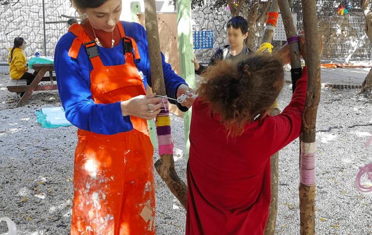 חצר בית ספר כמרחב למידה הפעלה עיצוב יחד עם תלמידים תלי רמת מוריה