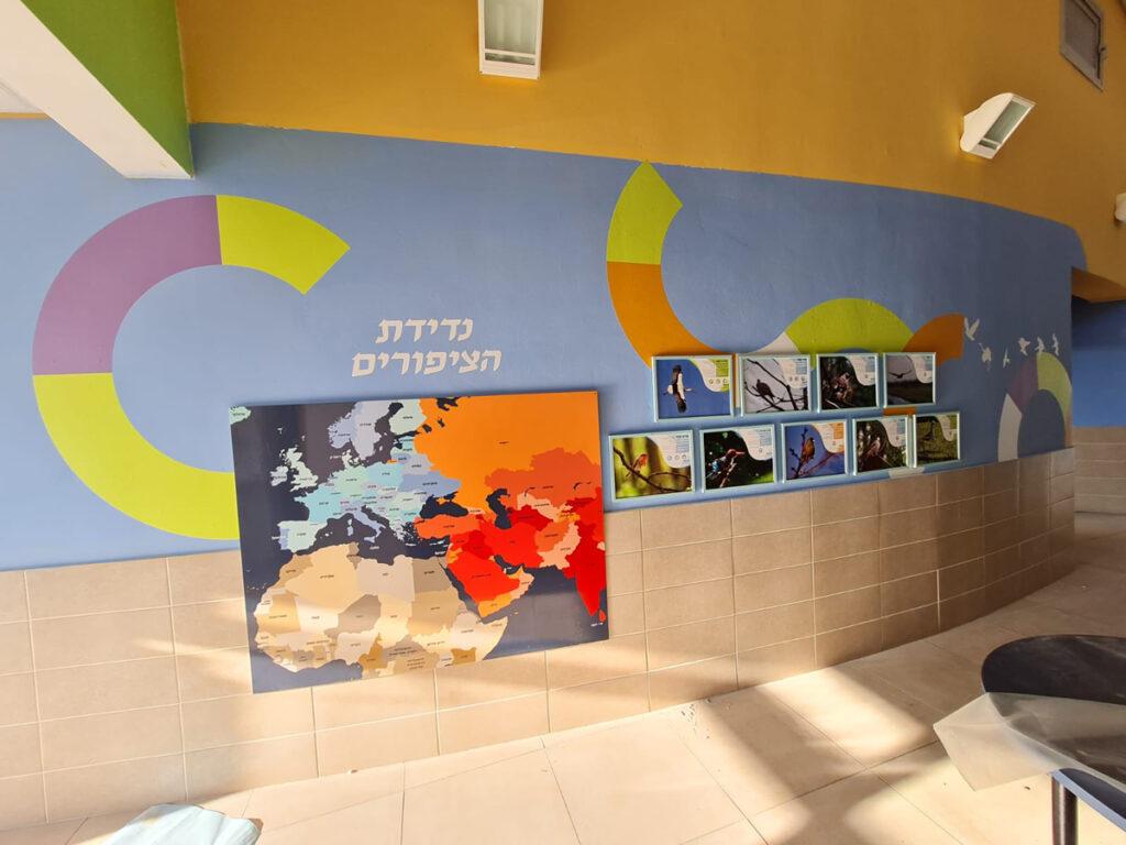 בית הספר ניצנים עיצוב קיר נדידת הציפורים