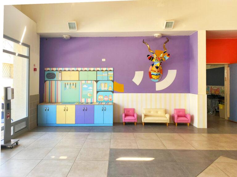 בית הספר ניצנים עיצוב מרחב מטבח משחק לימודי