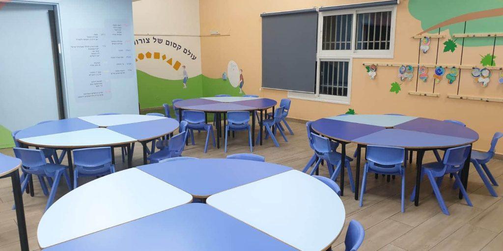 העיצוב הסופי של אחת מכיתות א' לפני תחילת הלימודים